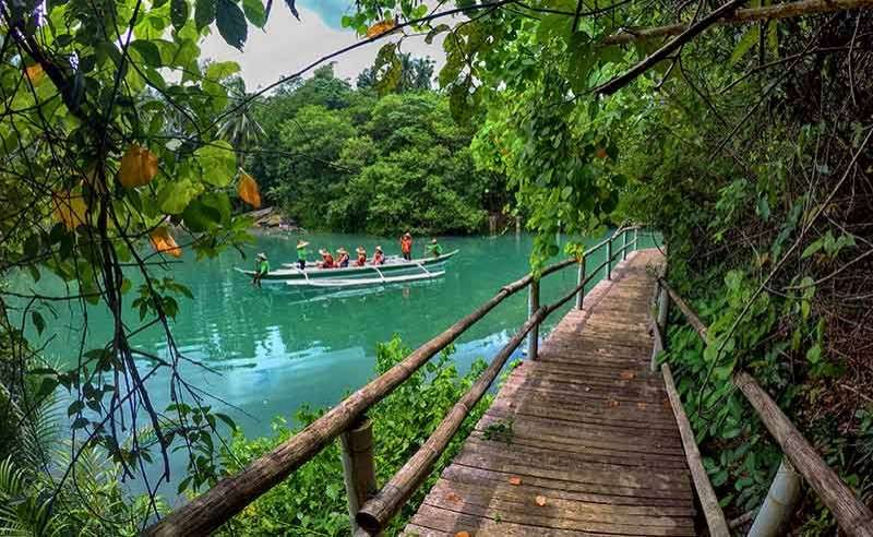 No motor boats here. Tourists are taken on a boat ride along the Bojo River. To preserve the beauty of the river, only paddle boats are allowed. (SunStar File Photo)