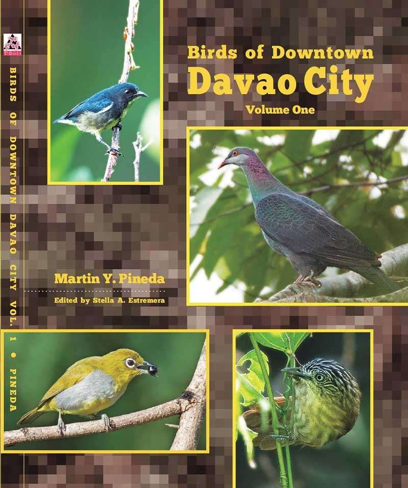 First ever. The covers of the first books published on Davao City's wild birds. (Stella A. Estremera)