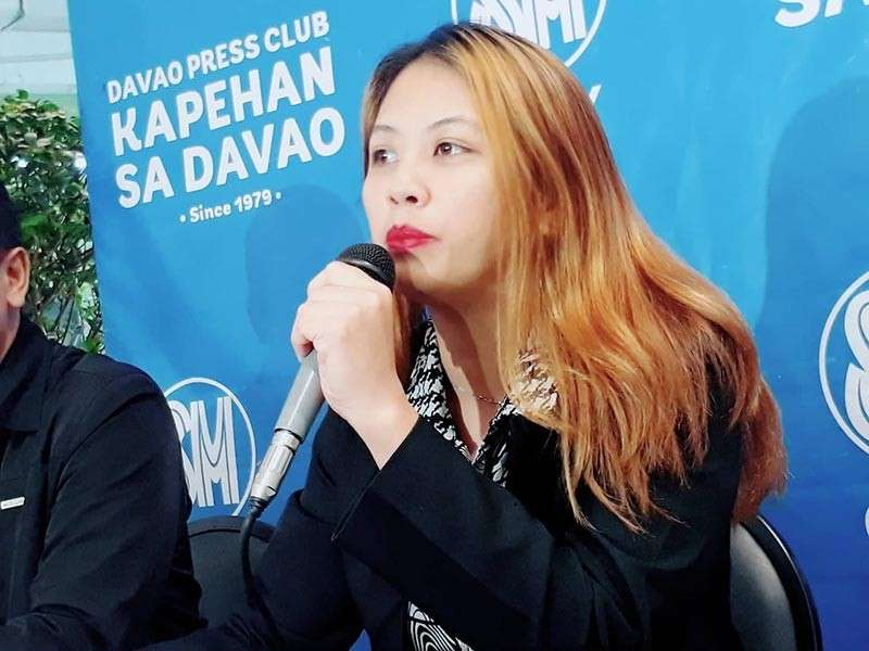 DAVAO. Jovana Cresta Duhaylungsod, DCWD deputy spokesperson, says the Binugao water system will benefit 5,000 consumers. (Contributed Photo)