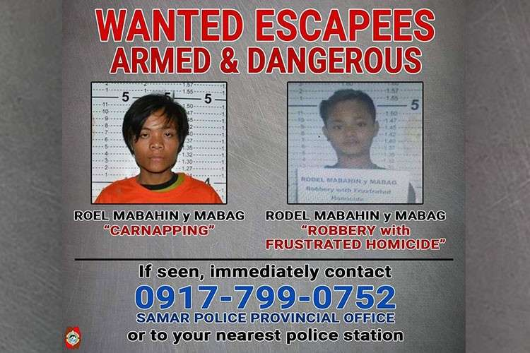 SAMAR. The Samar Provincial Police Office advised the public to report the whereabouts of Roel Mabahin, 22, and Rodel Mabahin, 19, who bolted out from Calbiga Municipal Police Station on March 11, 2019. (Contributed photo)
