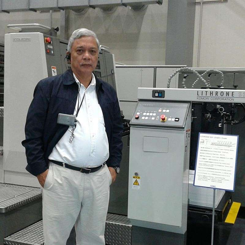 MAJOR UPGRADES. For Donato Manuel Busa, printing was his passion. And when it appeared like the end of an era for printing, he made sure to innovate and modernize to adapt to the times. (Contributed photo)