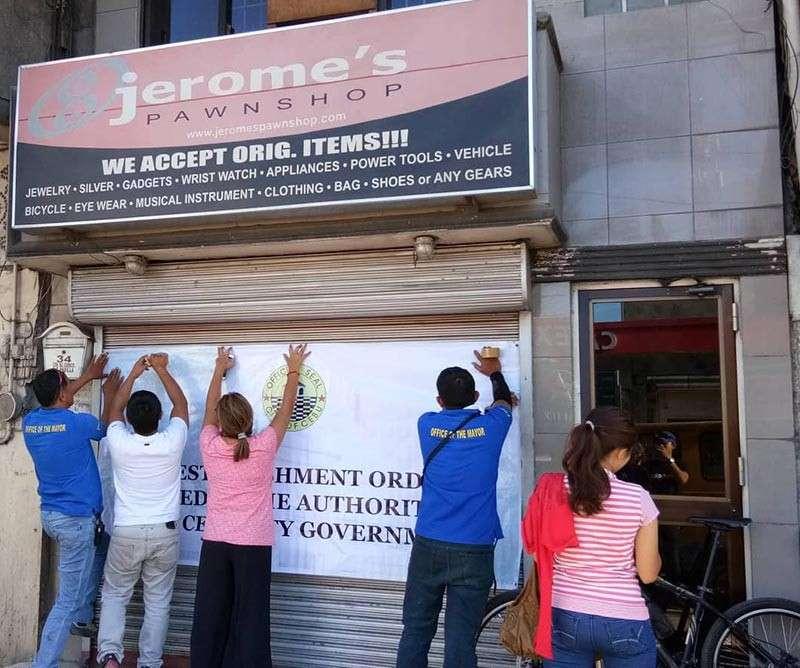 City Hall closes 9 Jerome's shops - SUNSTAR