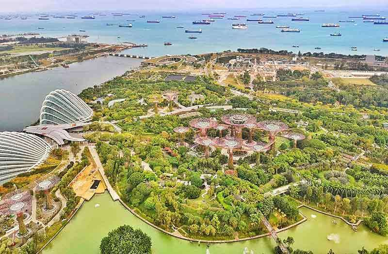 Gardens by the bay. Venue for the film's lavish wedding reception. (Kate Tiffany Yu)