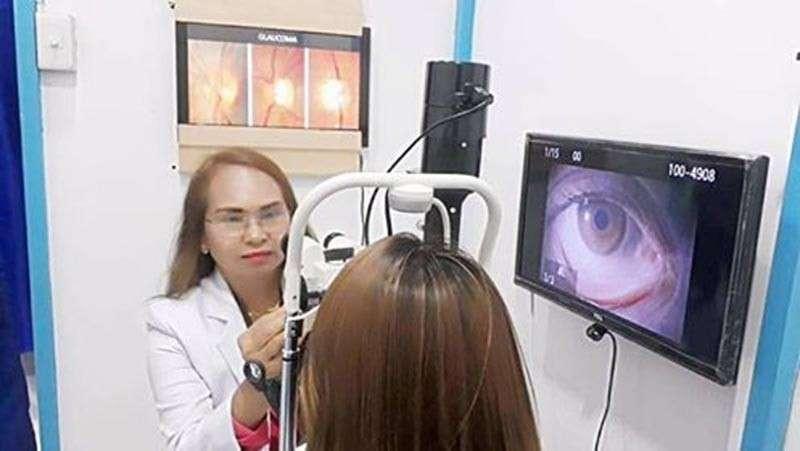 DAVAO. Eye health exam (Contributed Photo)