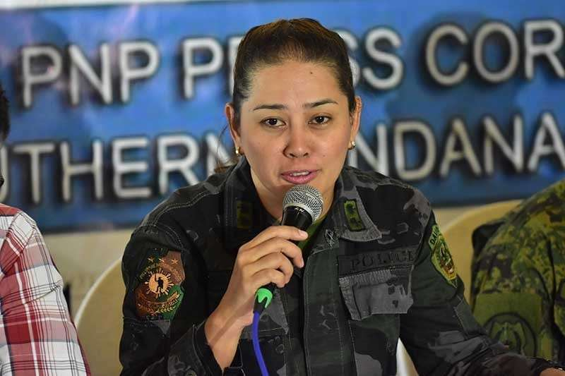 DAVAO. Police Senior Inspector Ma. Teresita Gaspan, spokesperson of the Davao City Police Office (File Photo)
