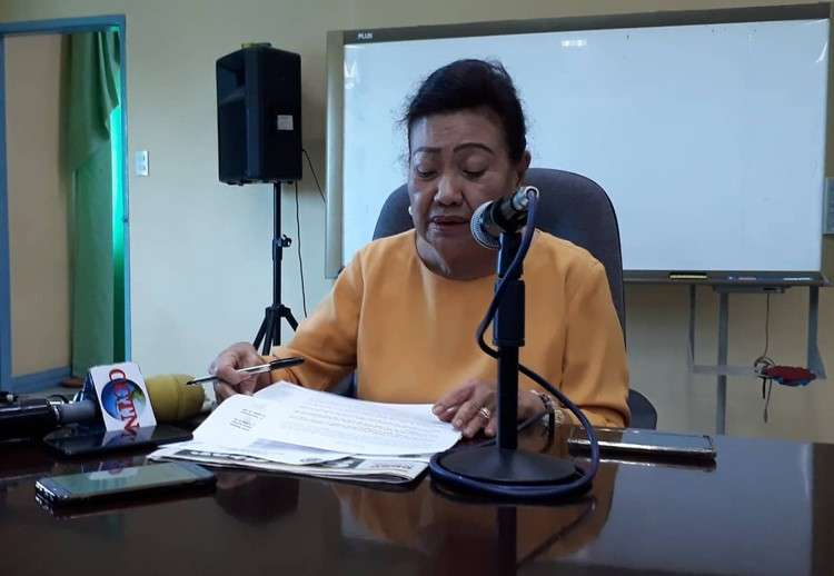 CEBU. Cebu Vice Governor Agnes Magpale announces that the Province will give a P50,000 cash aid to the family of Christine Lee Silawan. (Sheila C. Gravinez)