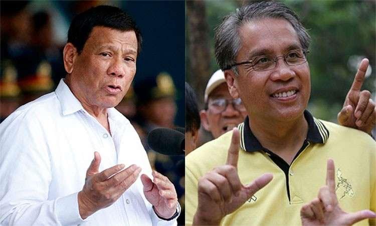 MANILA. President Rodrigo Duterte and senatorial candidate Manuel Roxas II. (SunStar File)