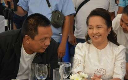 DUMAGUETE. Negros Oriental Governor Roel Degamo with House Speaker Gloria Macapagal Arroyo during the Oversight Committee hearing on the national ID system in Dumaguete City on Wednesday, March 13. (Photo from Negros Oriental Facebook page)