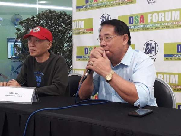 DAVAO. Asosasyon ng mga Bowlers ng Pilipinas, Inc. (Abpi) chairman of the board Emeterio R. Orteza bares the Davao City's hosting of a national tournament in April during Thursday's Davao Sportswriters Association (DSA) Forum at The Annex of SM City Davao. (Marianne L. Saberon-Abalayan)