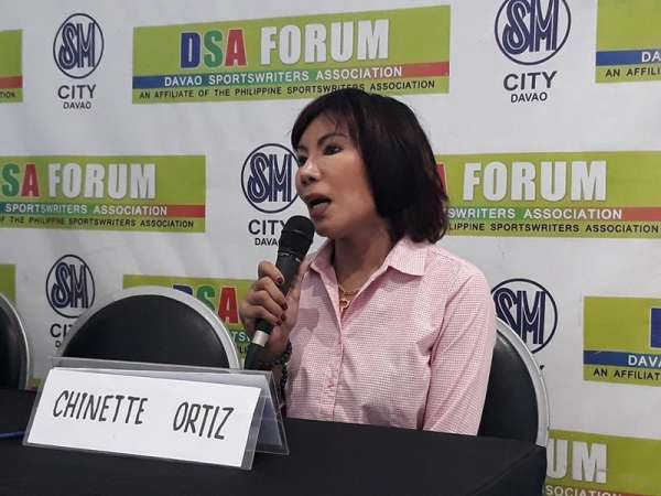 DAVAO. Multi-titled Jeannette Ortiz of Filipinas Ballroom Amateur League, Incorporated (FiBa-Al), guesting at the Davao Sportswriters Association (DSA) Forum at The Annex of SM City Davao yesterday, says entries from Russia and Ukraine will compete in the 82nd Araw ng Dabaw Open Ballroom Dance Competition 2019 set Sunday, March 17, at the SM City Davao Events Center. (Marianne L. Saberon-Abalayan)