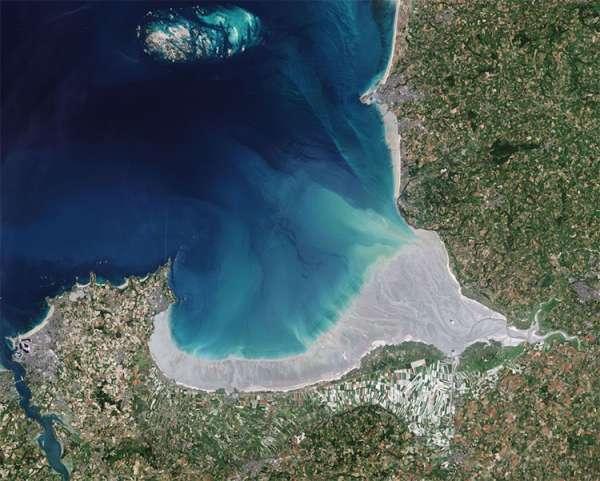 Mont Saint-Michel, France -- Copernicus Sentinel-2 data (2018).