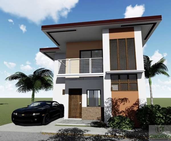 BOHOL. An artist's perspective of Arica, a single detached unit that is one of the housing models offered in Corella Homes. (Contributed Photo)