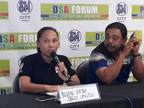 DAVAO. Philippine Rugby Football Union (PRFU) regional development officer Blessie Kate delos Santos, during the Davao Sportswriters Association (DSA) Forum at The Annex of SM City Davao Thursday, March 14, says the 82nd Araw ng Davao Get Into Rugby Festival is on its sixth edition since the sport was introduced here. (Photo by Marianne L. Saberon-Abalayan)
