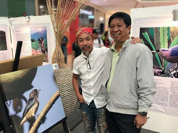 The Birds of Davao exhibit. (Photographs by Martin Pineda and paintings by Kublai Millan)