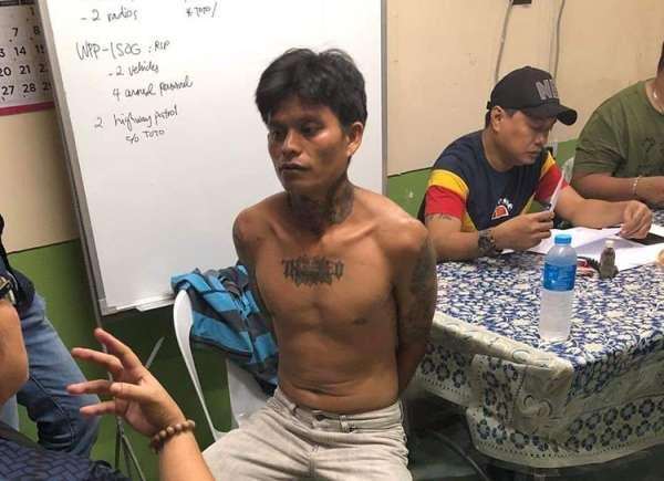 DAVAO. Si Jonas Martel Bueno ang giingong suspek sa pagpatay sa 16-anyos nga dalagita sa Lapu-Lapu City Cebu, nga milugos ug mipanit sa nawong sa biktima, nasikop sa otoridad sa Davao City, Biyernes, Marso 15. (CIDG-Davao)