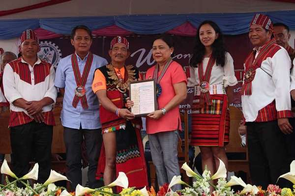 BAGUIO. In a resolution passed by municipal officials on March 13, Senator Cynthia Villar was declared as an adopted daughter of Bauko, Mt. Province. (Photo by Jean Nicole Cortes)