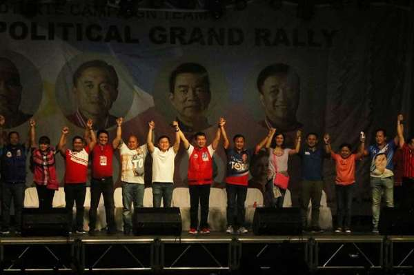 DAVAO. Candidates of the Partido Demokratiko Pilipino–Lakas ng Bayan (PDP-Laban) (Photo by Ralph Lawrence G. Llemit)