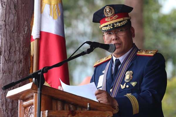 Newly installed Police Regional Office - Cordillera Director Police Brigadier General Ephraim Dickson vows to remove the stigma and transform Abra into a peaceful place during elections on Friday afternoon at the Camp Bado Dangwa in La Trinidad, Benguet. (Jean Nicole Cortes)