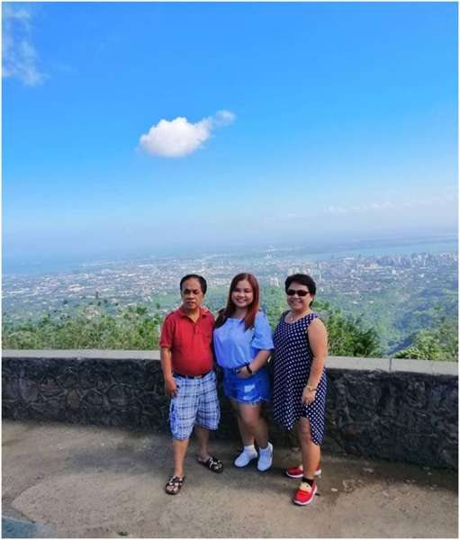 CEBU. My wife and daughter have visited Tops, Busay, Cebu. (From right) My wife Lyn, daughter Jasmine and me. (Danny Q. Junco)