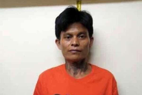 CEBU. Si Jonas Bueno, suspek sa pagpatay sa mag-uuma nga si Trinidad Batucan didto sa Danao City, Cebu. (CIDG-Davao photo)