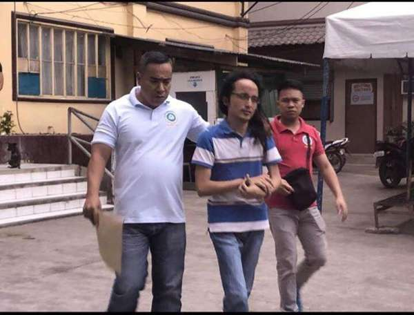 CRIMES ON FACEBOOK. Shielbert Michael Alerta Encabo (center), also known by different names, allegedly has multiple  Facebook accounts which he uses to shame certain individuals. He faces charges for cyber libel. (Contributed photo)