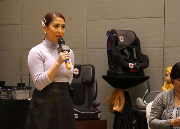 MANILA. Actress and TV host Jolina Magdangal speaks during the Keep Kids Safe in Cars press conference held Tuesday, March 19, at Luxent Hotel, Quezon City. (PR)