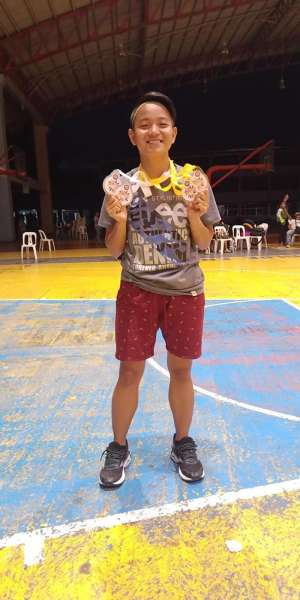 DAVAO. Diana Mae Memoracion of Emar Human Environmental College wins two gold medals and two silvers for Davao Unified Team at the close of the 2019 Araw ng Dabaw Athletics Festival held recently at Fr. Martinez Sports Center, Ateneo de Davao University in Matina. (Diana Mae Memoracion Facebook)