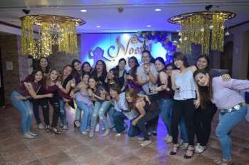 CAGAYAN DE ORO. Noemi with her zumba sisters. Purple party documented by John Udang and Isaac. (Hannah Wabe)