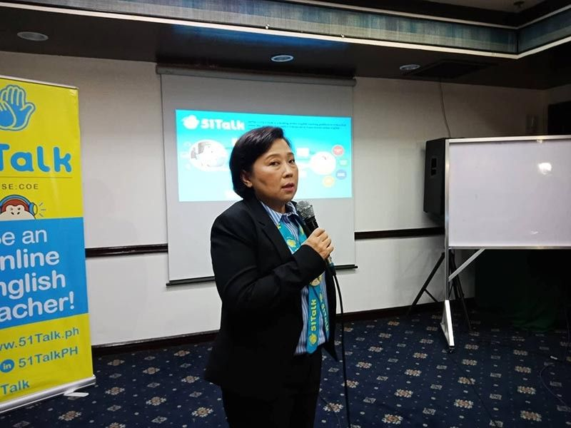 51Talk country head Jennifer Que said they needed more online English Filipino teachers in the next five years. (Photo by Lyka Casamayor)