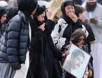 NEW ZEALAND. Mourners arrive for a burial service of a victim from the March 15 mosque shootings at the Memorial Park Cemetery in Christchurch, New Zealand, Thursday, March 21, 2019. (AP Photo)