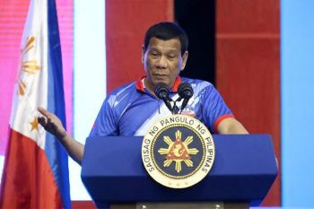 MANILA. In this March 13, 2019 photo, President Rodrigo Duterte delivers his speech during the Partido Demokratiko Pilipino-Lakas ng Bayan (PDP-Laban) campaign rally at the F. L. Dy Memorial Coliseum in Cauayan City, Isabela. (Presidential Communications photo)