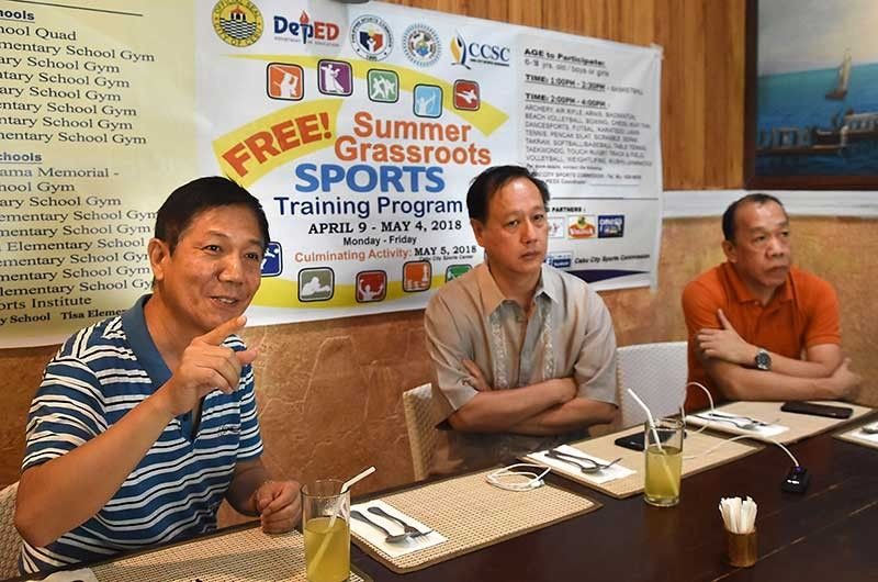 Volunteer-driven. Cebu City Sports Commission chairman Ed Hayco said the coaches who will head the summer clinic are the Cebu City athletes who competed in national meets. (SunStar File Photo)