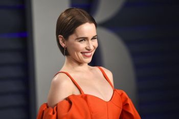USA. This Feb. 24, 2019 file photo, Emilia Clarke arrives at the Vanity Fair Oscar Party in Beverly Hills, Calif. Clarke has revealed she's had two life-threatening aneurysms, and two brain surgeries, since the show began. In a first-person story Thursday in The New Yorker, Clarke said she had been healthy all her life when had the first brain aneurysm in 2011 at age 24 while working out at a London gym. (AP)