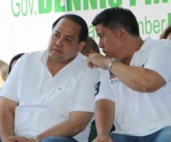 "PAMPANGA. Vice Governor Dennis ""Delta"" Pineda and Fourth District Congressman Juan Pablo ""Rimpy"" P. Bondoc discuss projects and programs intended for their constituents during the Alaga Ka program Thursday, March 21, 2019, in Barangay San Vicente, Sto. Tomas, Pampanga. (Photo by Chris Navarro)"