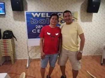 CAGAYAN DE ORO. Kapitan Dandan Guevara and Bobby Diaz during Ballpals anniversary dinner party on March 16 at Borj Tuna in downtown Cagayan de Oro. (Contributed photo)