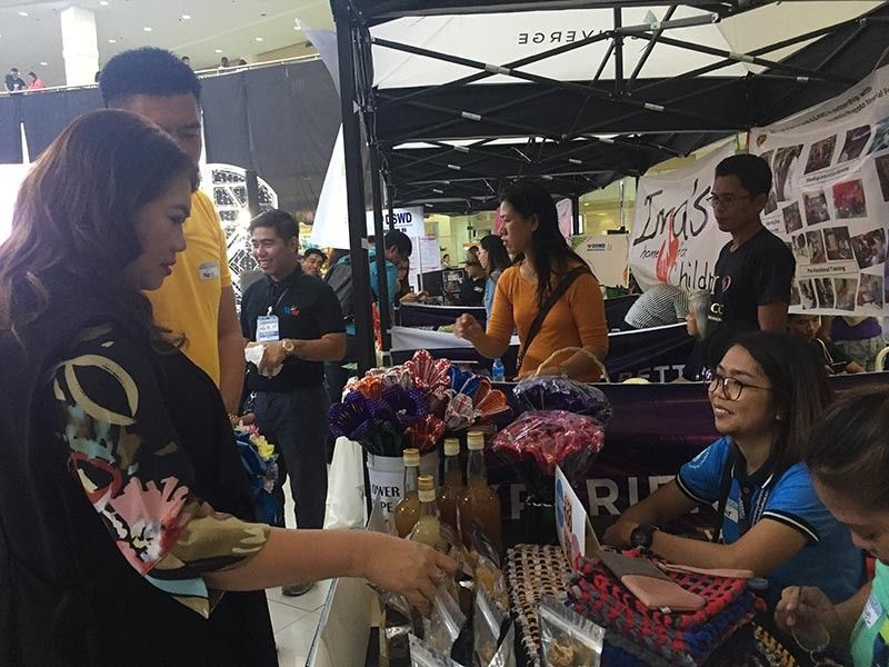 PAMPANGA. CLTV36 president and general manager Sonia P. Soto checks on the different products sold during the SocSeCon 2019 held at Robinsons Starmills in the City of San Fernando. (Photo by Princess Clea Arcellaz)