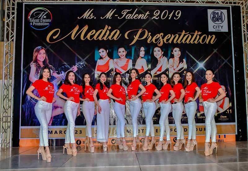 Ms. M-Talent 2019 candidates atol sa ilang press presentation. (PR)