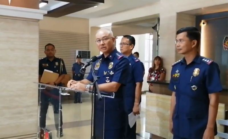 MANILA. Philippine National Police Chief Oscar Albayalde in a press conference in Camp Crame on Tuesday, March 26, 2019. (Third Anne Peralta-Malonzo)