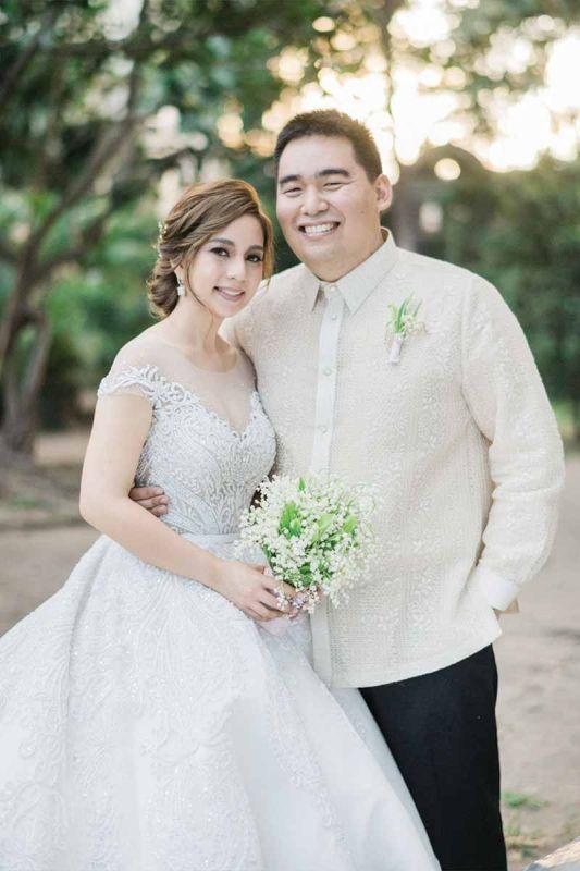 Newlyweds. Rep. and Mrs. Xavier Jesus Romualdo (Ria Chan).