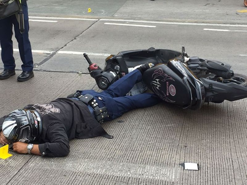 MANILA. Senior Master Sergeant Solomon Cugay was shot dead in the middle of Edsa near Connecticut Street in Greenhills, San Juan City on Tuesday, March 26, 2019. (Photo from PNP)
