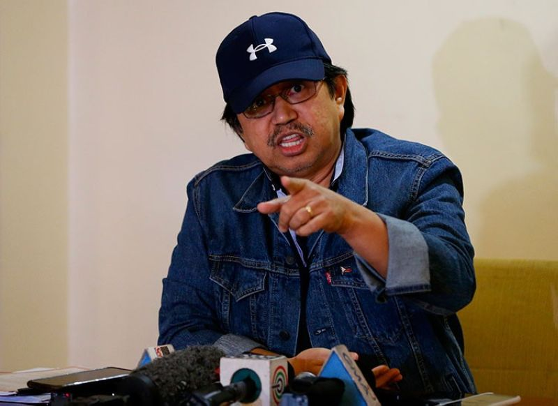 MANILA. In this Sunday, March 24, 2019, photo, former Police Senior Superintendent Eduardo Acierto gestures during a clandestine news conference for the first time with a select group of journalists in Manila. (AP)