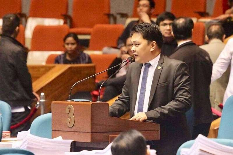 BACOLOD. Bacolod City Representative Greg Gasataya delivers a privilege speech at the House of Representatives. (Contributed photo)