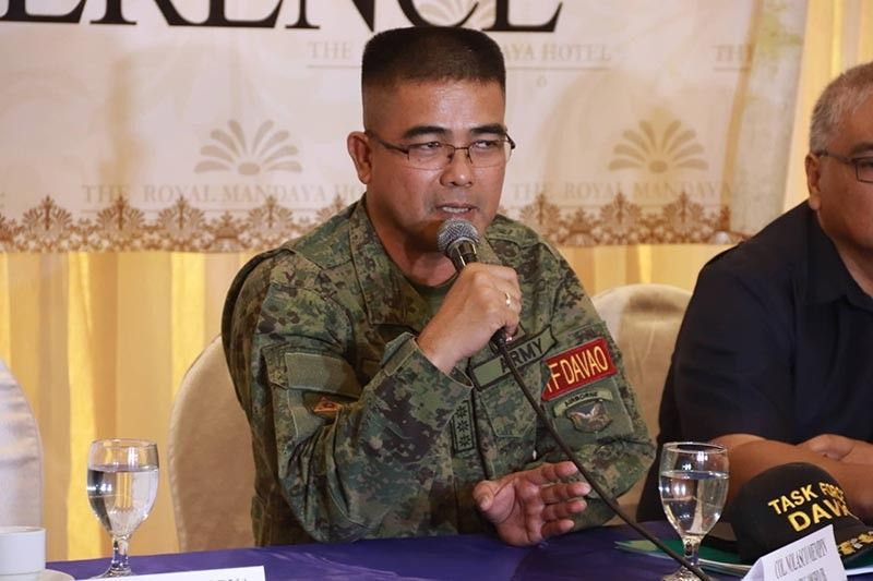 DAVAO. Task Force Davao commander Colonel Nolasco Mempin (Photo by Juliet Revita)