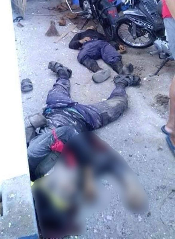 SAMAR. Three members of New People's Army were killed and one member was arrested when they attacked a police station in Victoria, Northern Samar on Thursday morning, March 28. (Contributed photo)