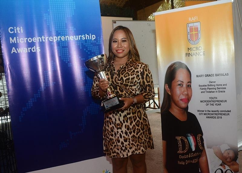 YOUTH MICROENTREPRENEUR OF THE YEAR. With P5,000, Mary Grace Bayalas opened a small birthing clinic with two beds near the public market of San Fernando, Cebu when she was 22 years old. (SunStar photo / Amper Campaña)