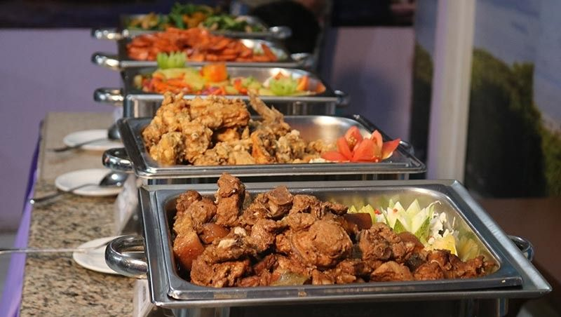 DAVAO. Lutong-bahay foods served during lunch buffet. (Contributed photo)