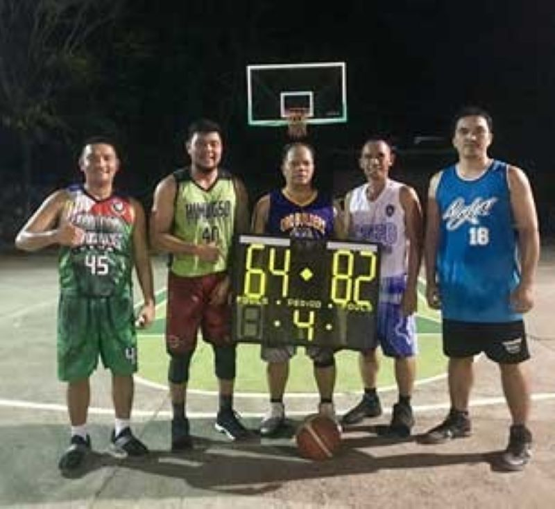 CAGAYAN DE ORO. The undermanned Team Mugot dribblers in victory. (Supplied Photo)