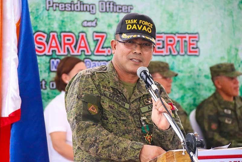 Former Task Force Davao (TFD) commander Colonel Nolasco Mempin. (Contributed photo)