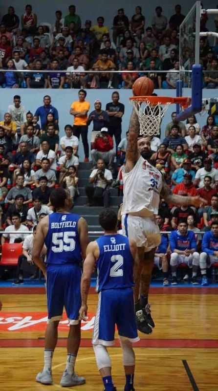 EASY TWO. Alab Pilipinas import PJ Ramos scores on a dunk against Hong Kong. ( Sunstar Photo / Jun Migallen)