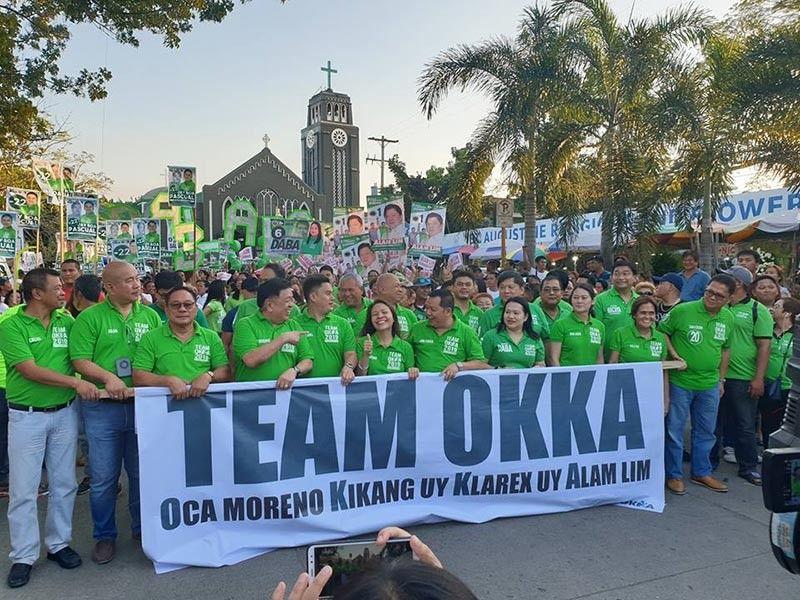 CAGAYAN DE ORO. Ang team Okka atol sa ilang unang gipahigayon nga grand rally niadtong Sabado sa gabii, Marso 30, sa siyudad sa Cagayan de Oro. (Kris C. Sialana)